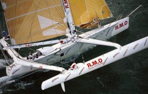 ORMA 60' trimaran skippé par Laurent Bourgnon sur La Baule Dakar en 1991