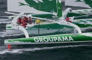 Trimaran Groupama 1 skippé par Franck Cammas