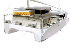 Pescavel catamaran de pêche hybride