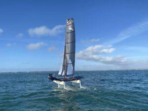 Catamaran Befoil 16 Sport en navigation