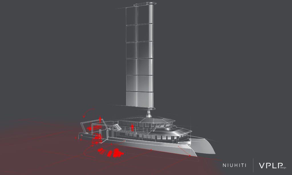 Niuhiti catamaran de transport hydride de passagers et fret