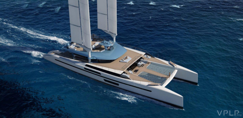 Wing yacht catamaran Evidence par VPLP design