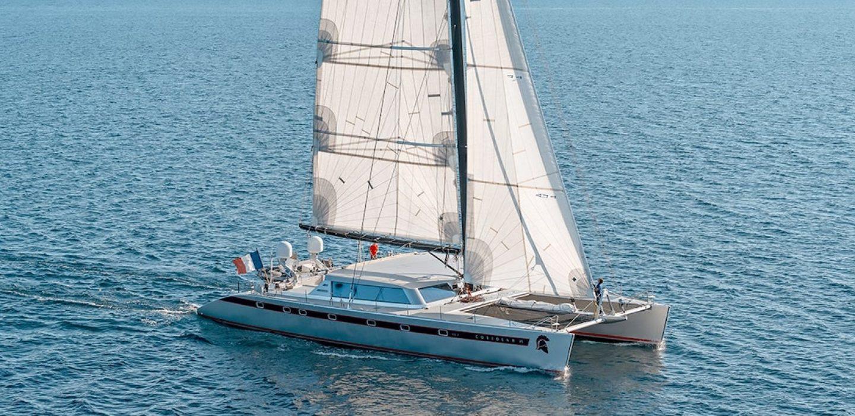 Coriolan VI catamaran par VPLP design