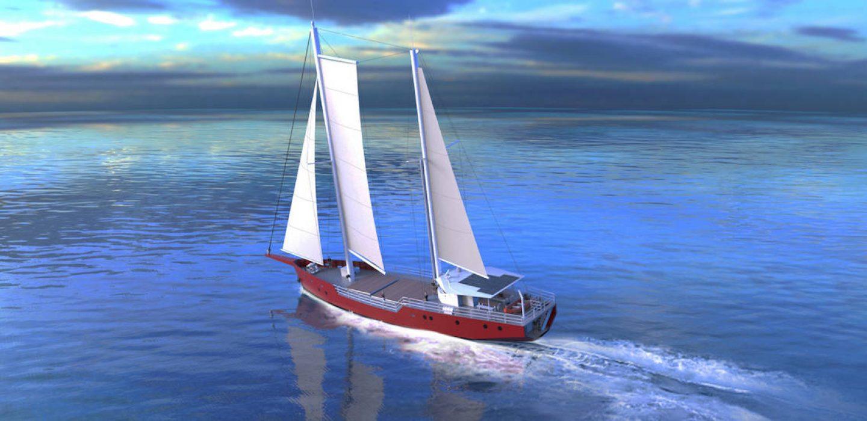 Cerulean voilier cargo par VPLP