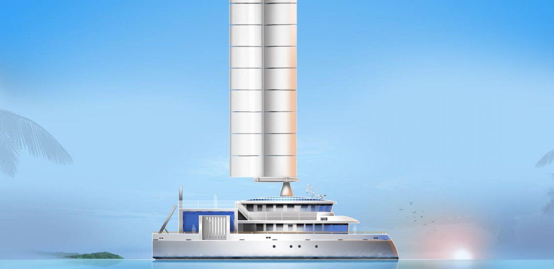 Niuhiti est un catamaran de transport de passagers et de fret par VPLP