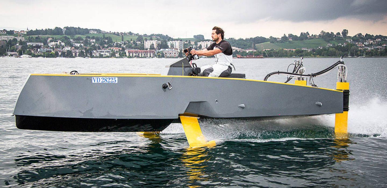 Prototype HY-X bateau à moteur volant